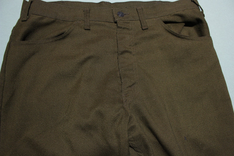 Levis 646 Sta Prest Never Needs Ironing Vintage 70's Casual Flare Bell Bottom Pants