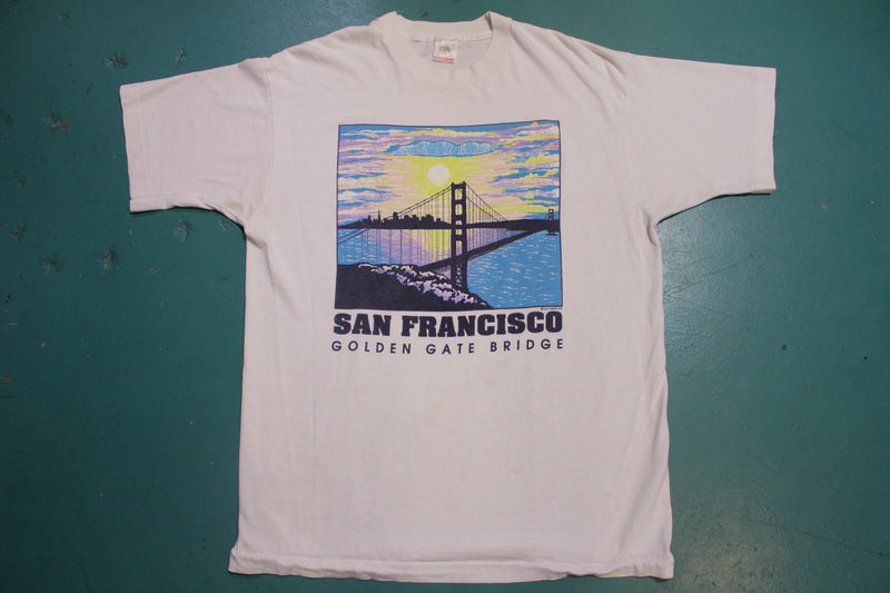 San Francisco Golden Gate Bridge Single Stitch 80s T-Shirt