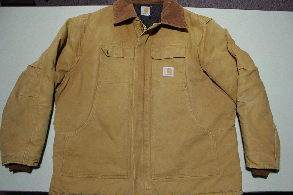 Carhartt C26 BRN Arctic Quilt Lined Drawstring Waist C003 Traditional Work Coat Jacket