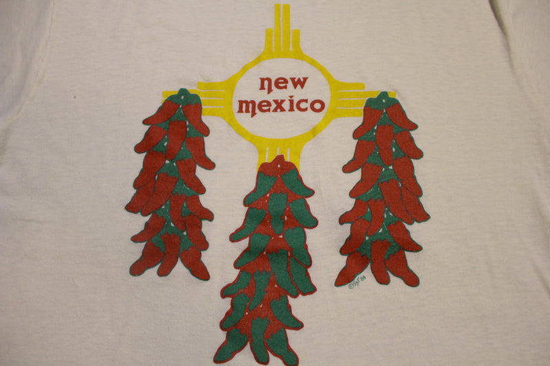 New Mexico Red Pepper 1984 Single Stitch Cal Crew Vintage 80s T-Shirt