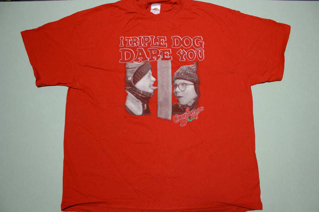 Christmas Story I Triple Dog Dare You Licensed Tennessee River Movie T-Shirt