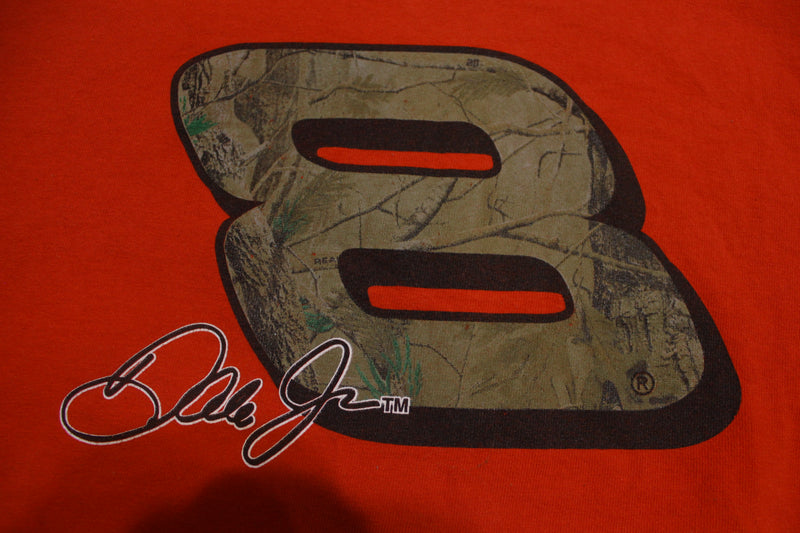 Dale Earnhardt Jr Camo 8 Vintage Red NASCAR Racing T-Shirt