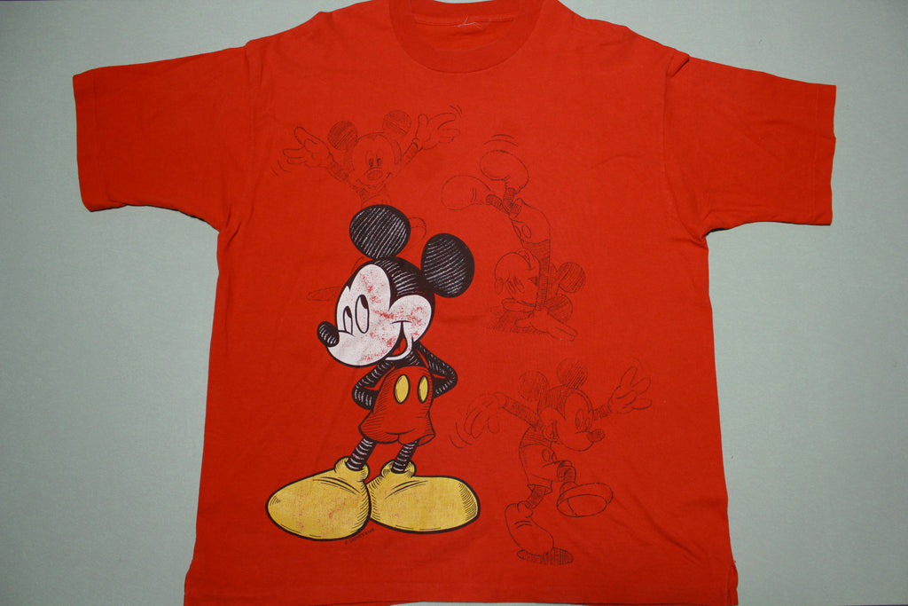 Mickey Mouse Unlimited Disney Artist Sketch Vintage 90s T-Shirt
