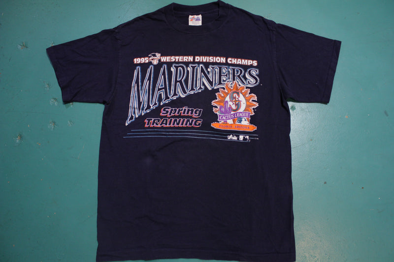 Seattle Mariners 1995 Western Division Champs Spring Training Vintage T-Shirt