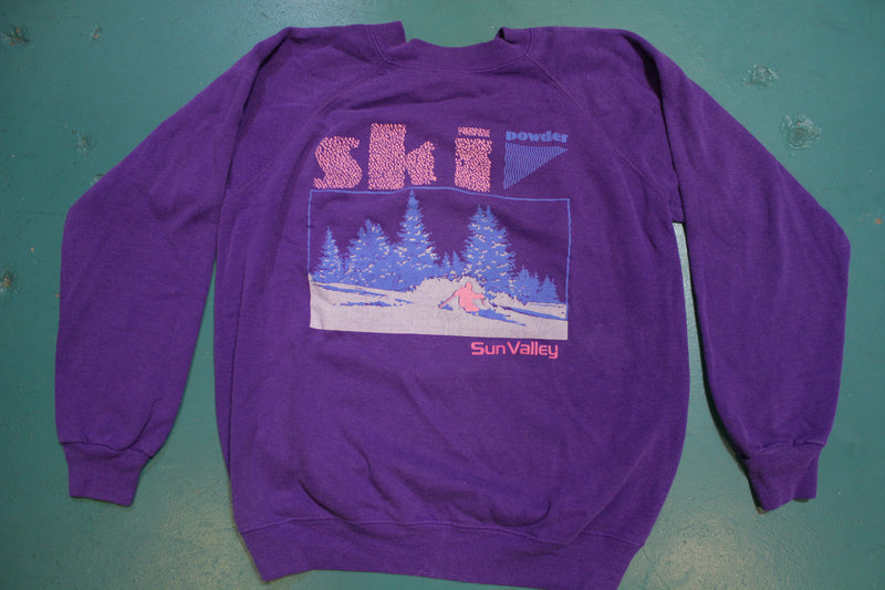 Sun Valley Suicide Ski Powder Snow 80s Vintage Hanes Crewneck Swearshirt