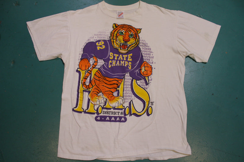 Hahnville Tigers 1992 State Champs Jerzees Vintage 90s Tshirt