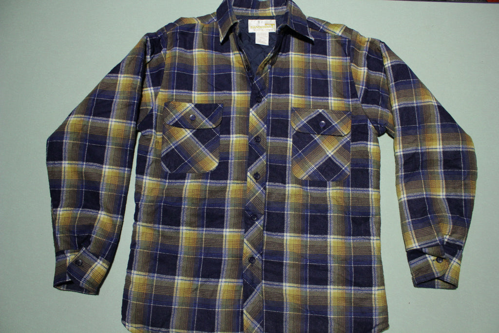 Sandherst Vintage 70's Flannel Button Up Quilt Lined Shirt
