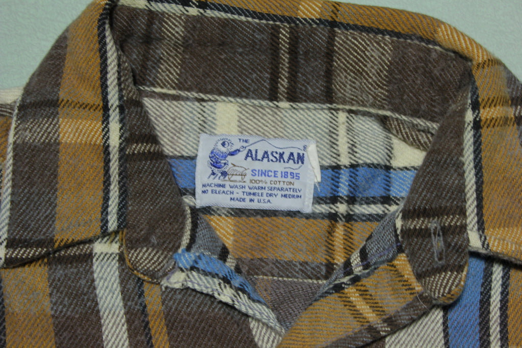 The Alaskan Made in USA Vintage 70's Flannel Logging Shirt