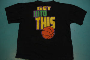 Get Offa This Couch Get Into This Basketball 90s NBA Basketball Sunsports Vintage T-Shirt