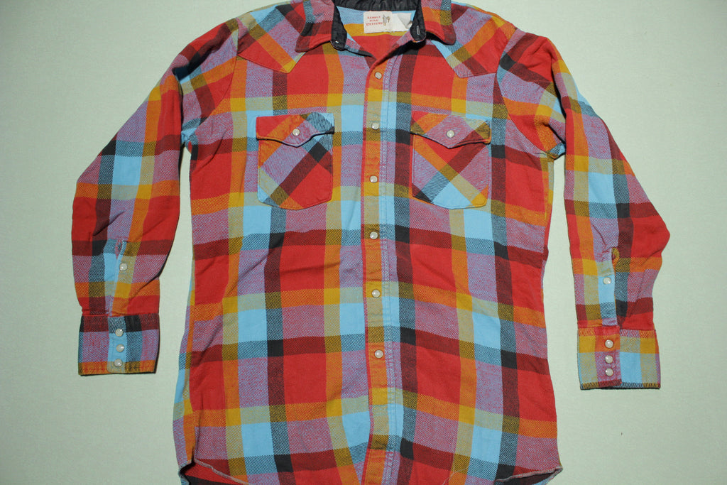 Saddle King Western Vintage 80's Pearl Snap Flannel Shirt