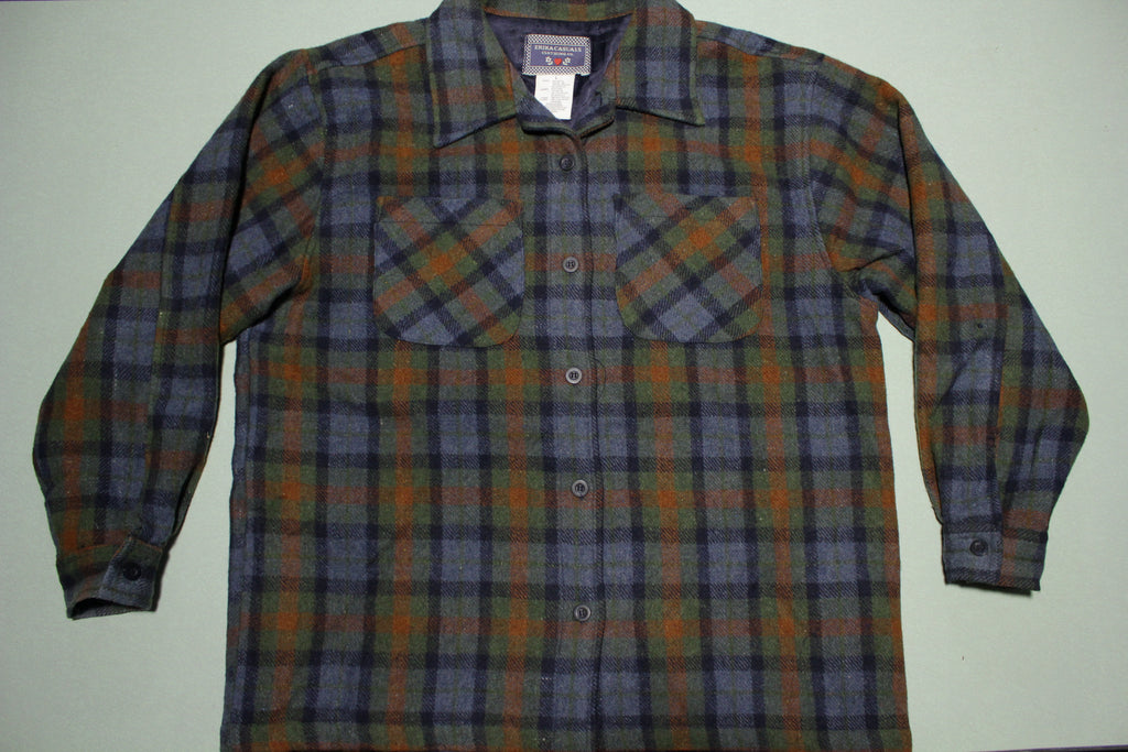 Erika Casuals Clothing Vintage 80's Unisex Flannel Lined Jacket Shirt
