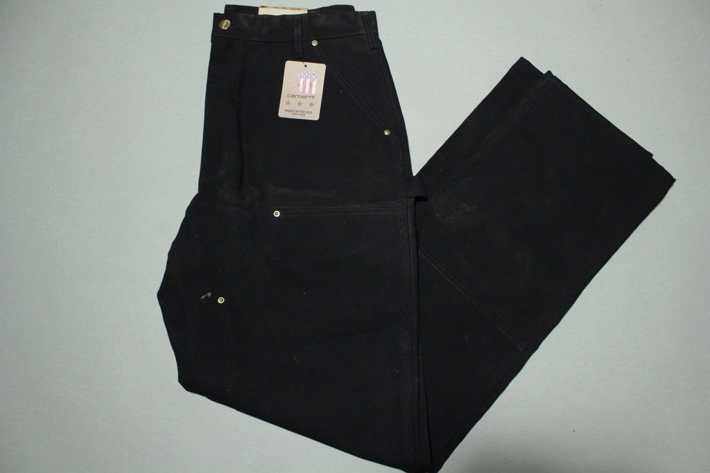 Carhartt B01 Double Knee Front Work Construction Utility Pants BLK Made in USA NWT