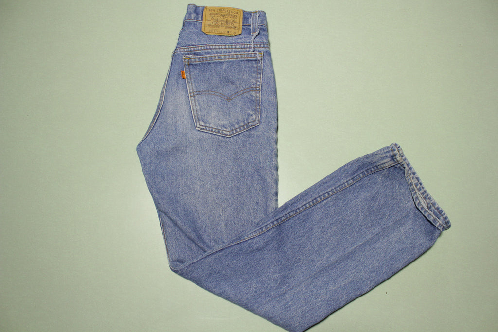 Levis Vintage 80s Orange Tab 517 Faded Denim Jeans Made in USA Men's Size 30x30