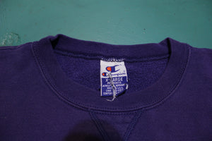 Champion Embroidered 80s Made in USA Vintage Crew Neck Sweatshirt