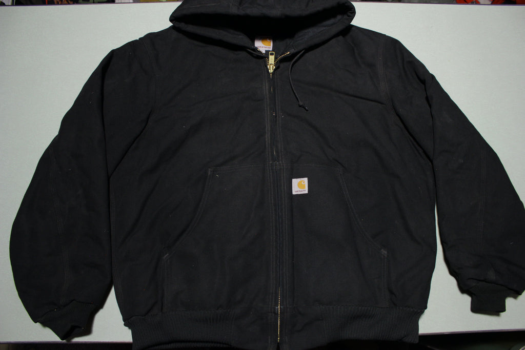 CARHARTT J140 BLK NEW!! Quilted Flannel Lined Duck Canvas Jacket USA MADE