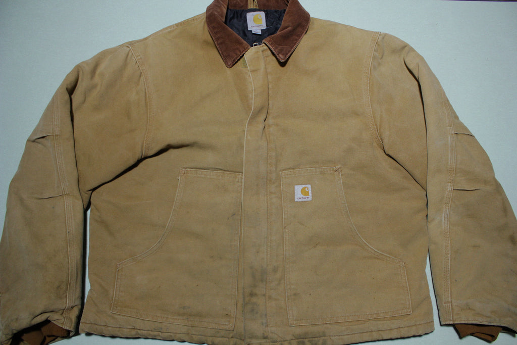 Carhartt J002 Arctic Quilt Lined Duck Traditional Jacket BRN