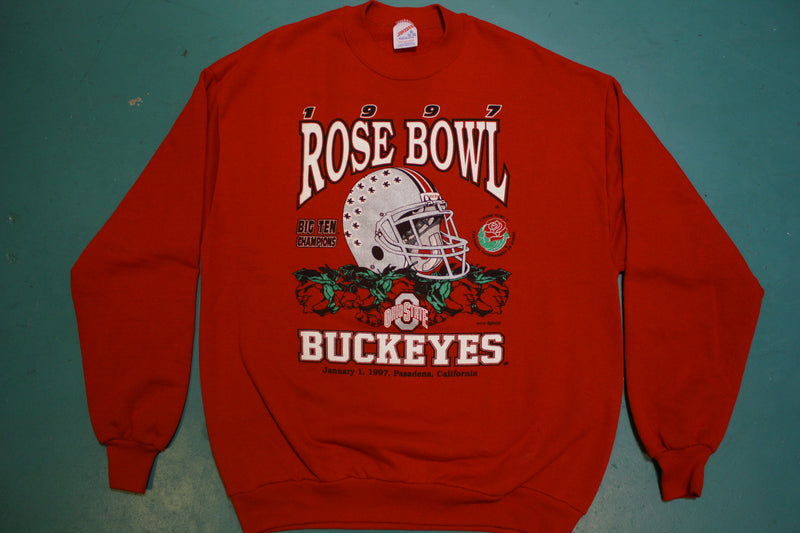 1997 Rose Bowl Big Ten Champions Ohio State Buckeyes USA 90's Vintage Sweatshirt