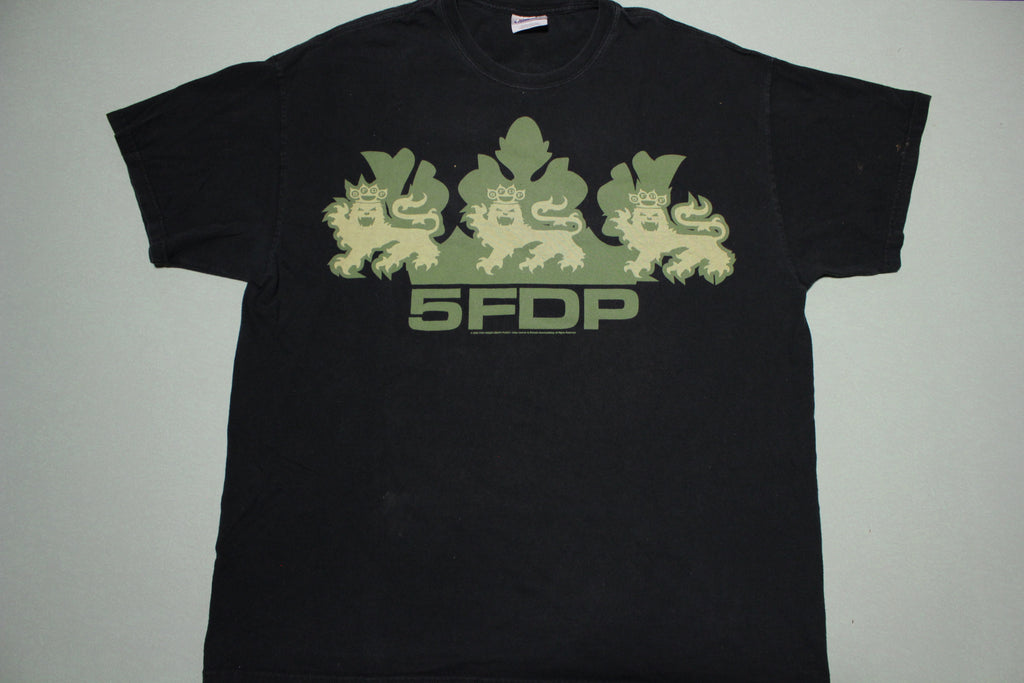 5FDP Five Finger Death Punch Death Before Dishonor 2000's Green T-Shirt