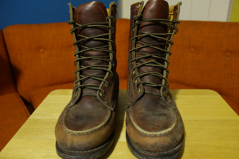 Herman Survivors Oxblood Brown 20 Below Zero Leather Distressed Lace Up Boots 8