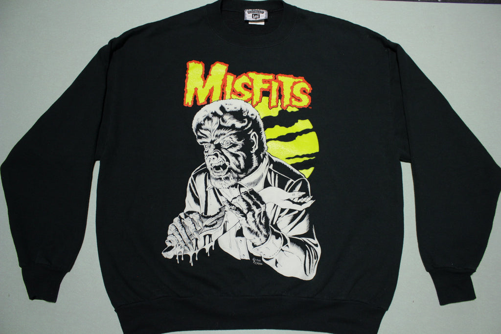 Misfits 1999 Ed Repka Artwork Famous Monsters 2000 European Tour Vintage 90's Sweatshirt