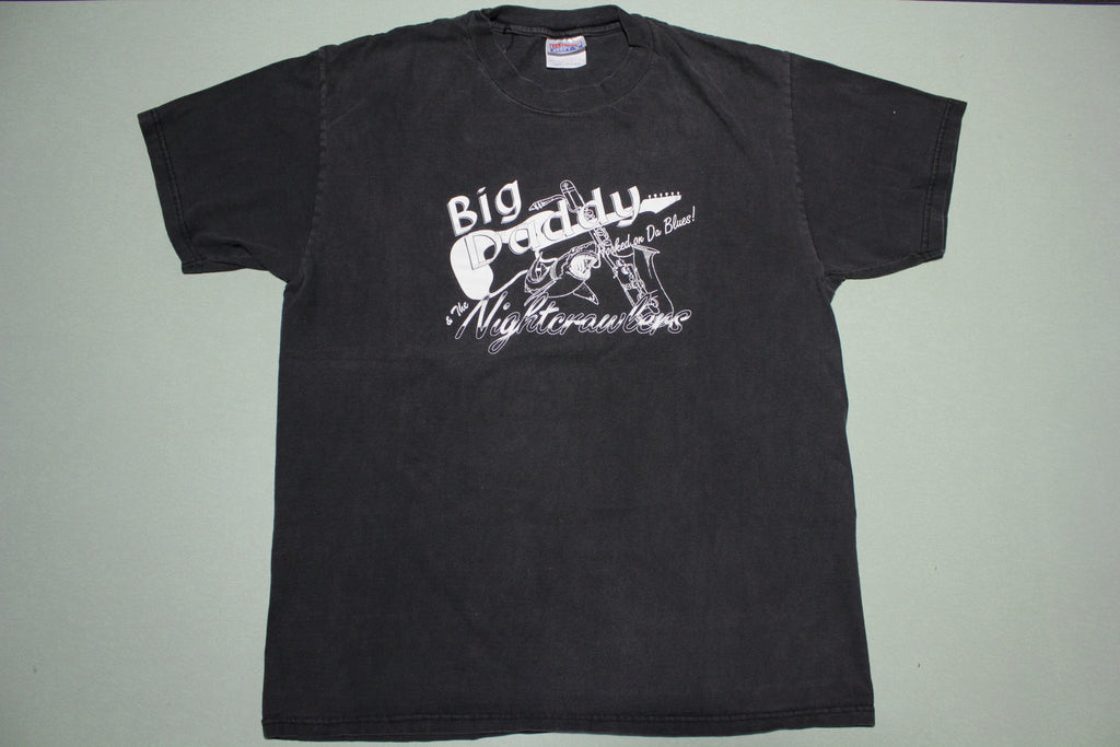 Big Daddy and The Nightcrawlers Hooked On Da Blues Vintage 90's Concert T-Shirt