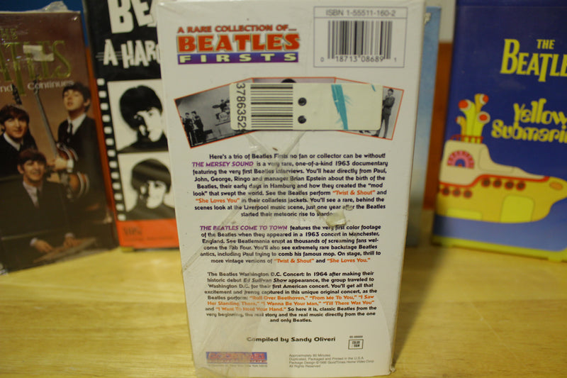 The Beatles Lot of 7 Vintage VHS Tapes Yellow Submarine Lennon Imagine Hard Days Rare