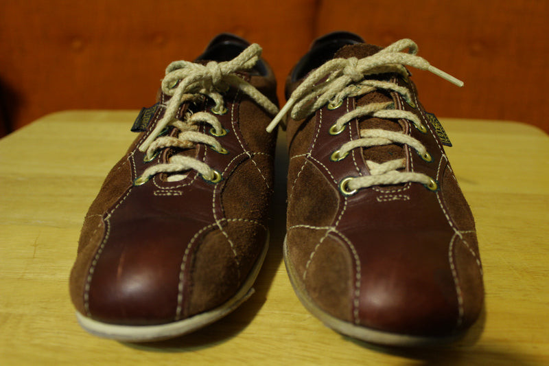 Dexter Brown Leather Vintage 60's 70's Bowling Shoes Men's Size 7.5