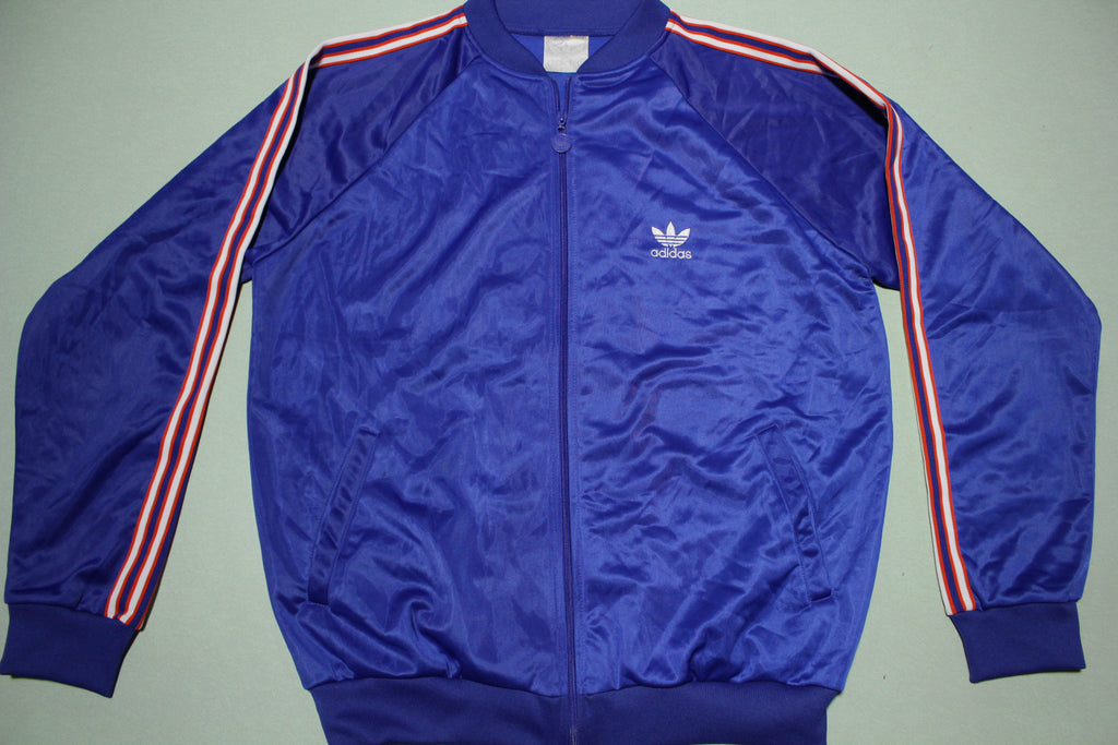 Adidas Vintage 90's Blue Red White Striped Track Jacket