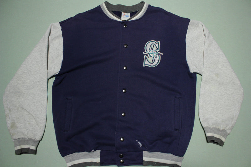 Seattle Mariners Vintage Majestic USA Made 90's Patch Logo Bomber Jacket
