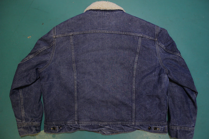 Lee Storm Riders Sherpa Lined Trucker Style Made in US 70's 80's Jean Jacket