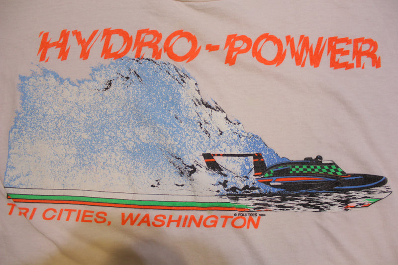 Hydro Power Tri Cities Washington 1984 Vintage 80's Crewneck T-shirt