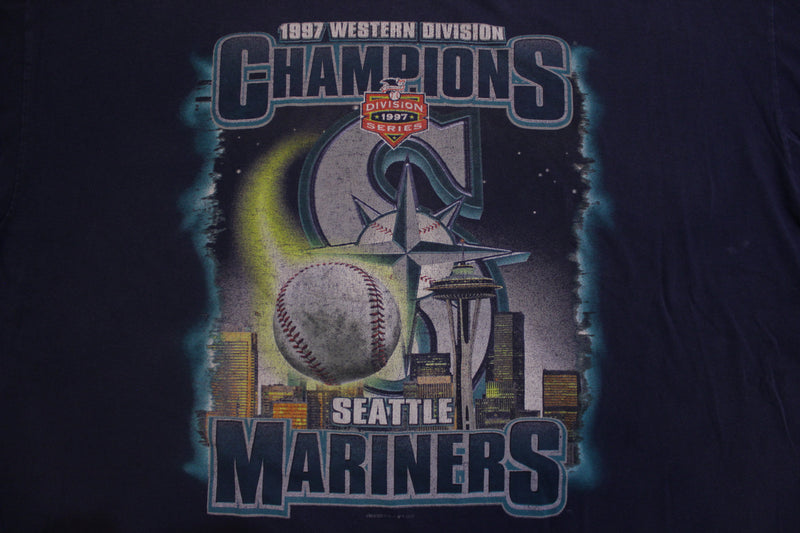1997 Western Division Champions Seattle Mariners 90's Vintage T-shirt