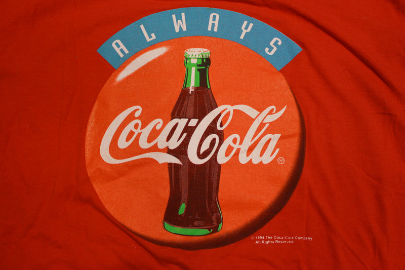 Always Coca-Cola 1994 Front and Back Graphic Vintage 90's T-shirt
