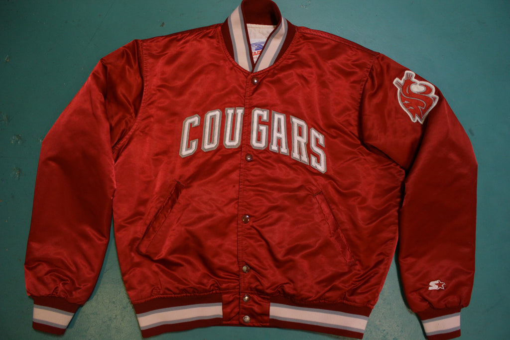 Washington State Cougars Vintage Made in USA Starter 80's Satin Quilt Lined Jacket