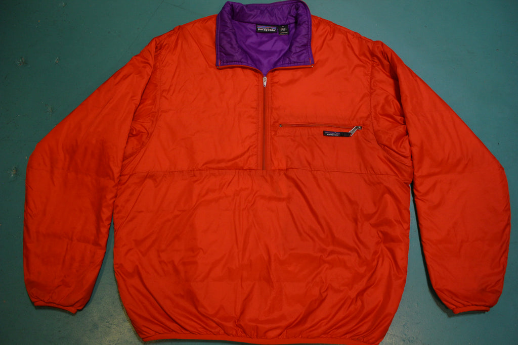 Patagonia Red Made in USA Vintage 90's Half Zip Pullover Windbreaker Jacket