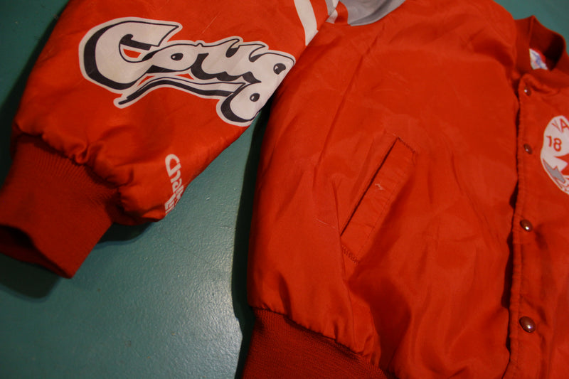 Washington State Cougars WSU Fanimation Chalk Line USA Made 80's Jacket RARE