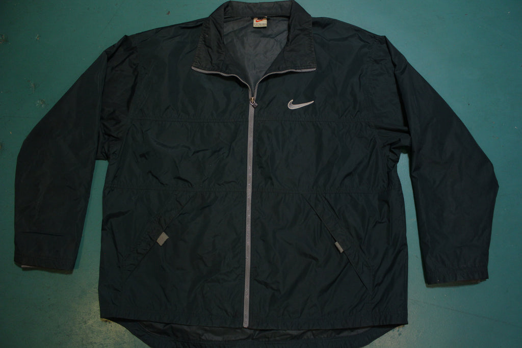 Hunter Green 90's Nike Swoosh Vintage Windbreaker Jacket