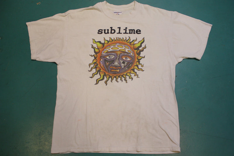 Sublime Skunk Records Long Beach CA 90's Vintage Crewneck Concert T-shirt