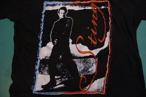 Sting Black Vintage Single Stitch 80's Crewneck T-shirt 1980's