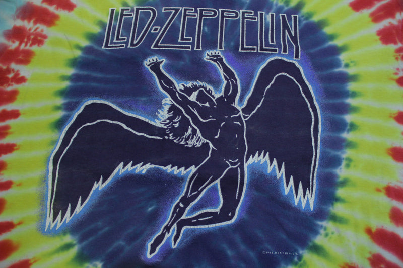 Led Zeppelin Swan Song Tie Dye 1984 Single Stitch Made in USA 80's Vintage T-shirt