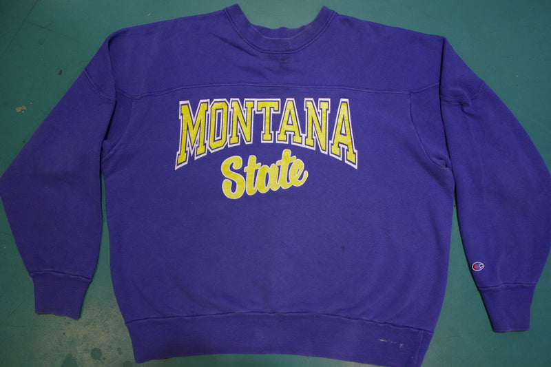 Montana State Champion Vintage 80's USA Made Crewneck Sweatshirt