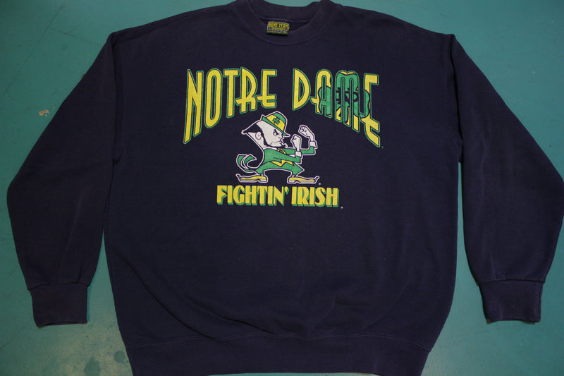 Notre Dame Fightin' Irish 80's Made in USA Vintage College Sweatshirt