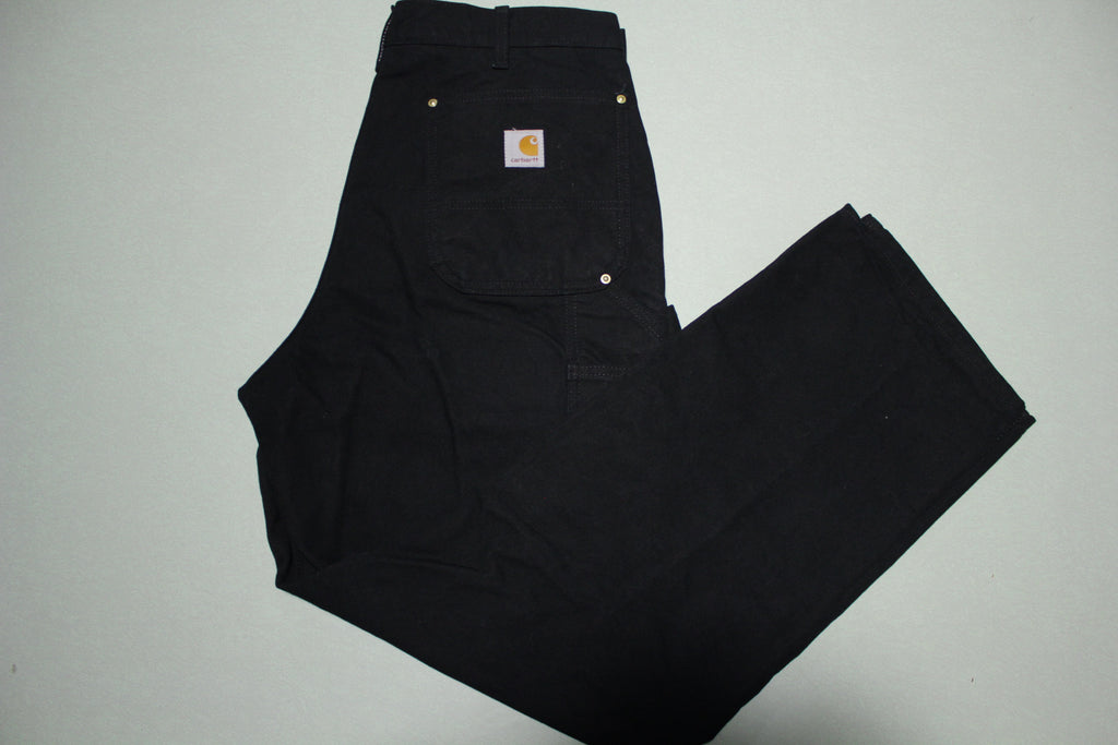 Carhartt B01 Double Knee Front Work Construction Utility Pants BLK Made in USA 00