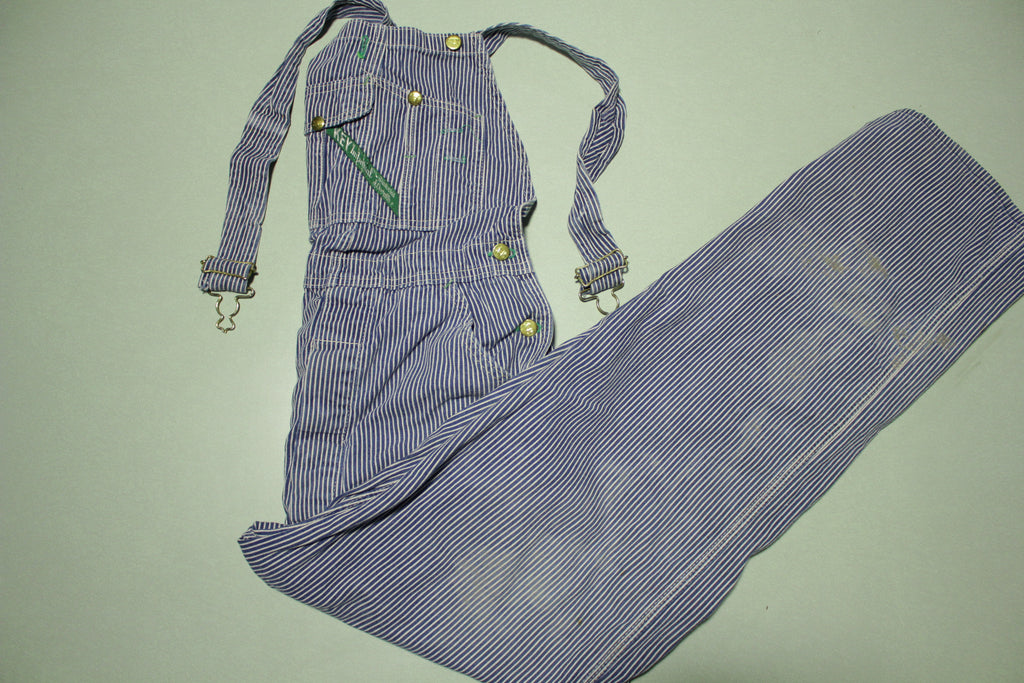 Key Imperial Vintage Farmer Railroad Hickory Striped Bib Overalls