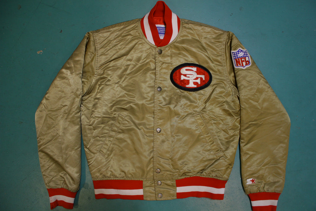 San Francisco 49er's Gold Satin Starter 80's Jacket Rare Made in USA