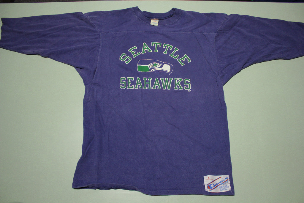 Seattle Seahawks Vintage 80's Rochester Champion T-Shirt Jersey