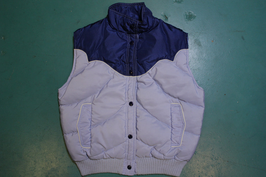 Tempco Made in USA Down Insulated 80's Vintage Western Ski Vest