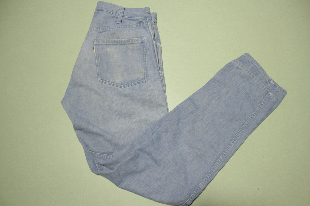 Levis Big E Talon 42 Zipper Vintage 60's Light Wash Denim Blue Jeans