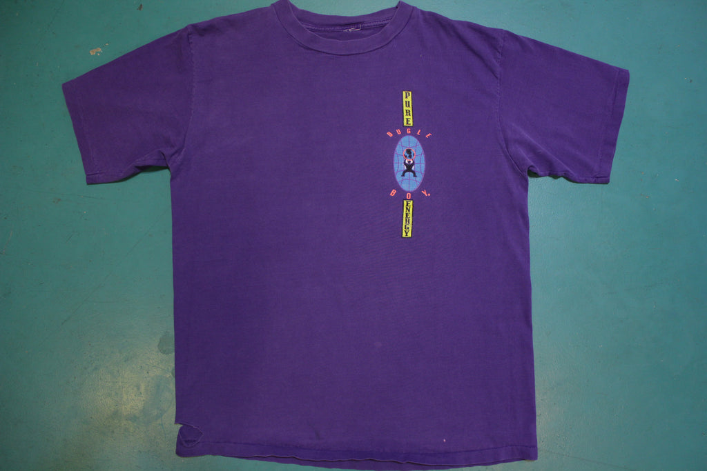 1992 Bugle Boy Pure Energy Vintage 90's Graphic T-shirt Information Society