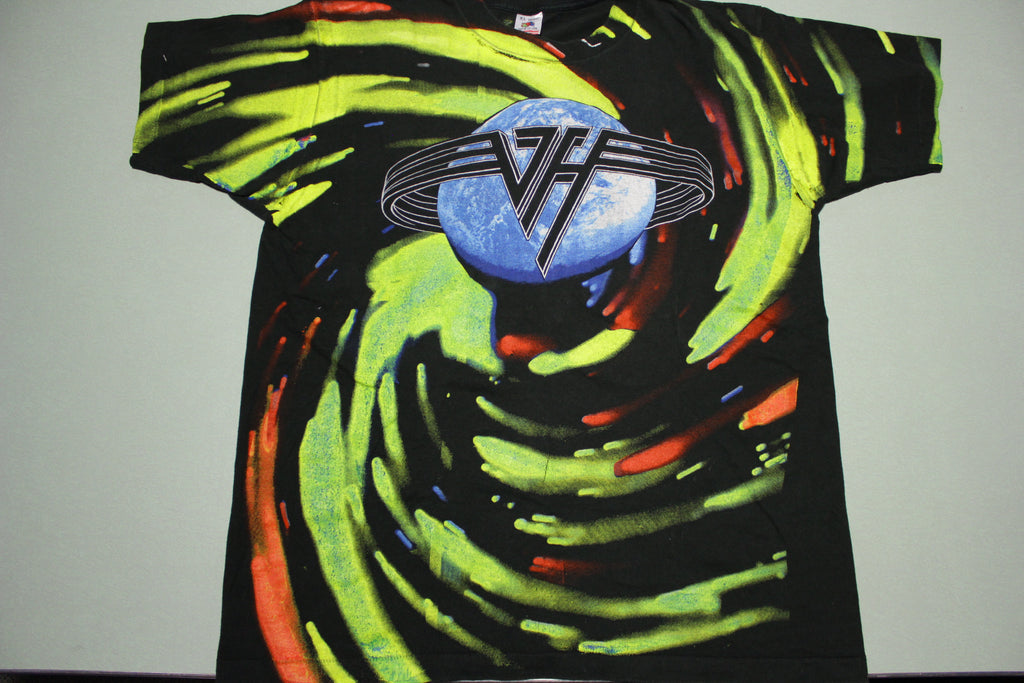 Van Halen All Over Print Live 1993 World Tour FOTL Single Stitch USA Made T-Shirt